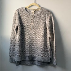 Rebecca Taylor NWT M grey shimmer sweater